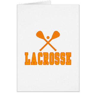 Lacrosse Orange Cards