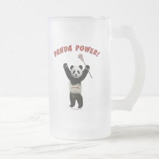 Lacrosse Panda Power Frosted Glass Beer Mug