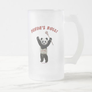 Lacrosse Panda's Rule Frosted Glass Beer Mug