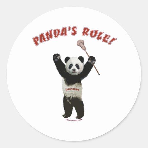 Lacrosse Panda's Rule Round Stickers