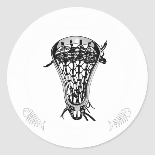 Lacrosse Pass Fish Classic Round Sticker