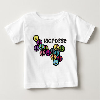 Lacrosse Peace Signs Filled Baby T-Shirt