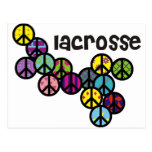 Lacrosse Peace Signs Filled Postcard
