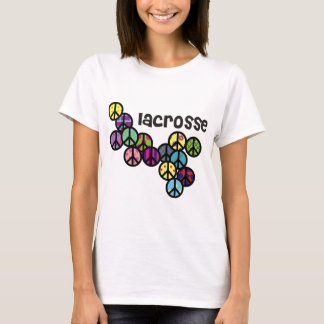 Lacrosse Peace Signs Filled T-Shirt