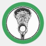 LaCrosse Pegatina Redonda