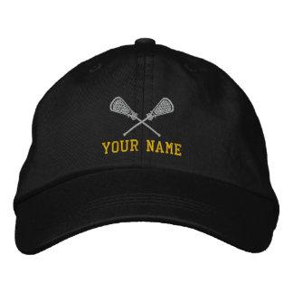 LaCrosse personalizado su casquillo bordado nombre Gorra De Béisbol