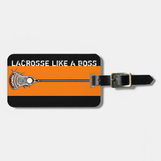 lacrosse personalized gift idea luggage tag