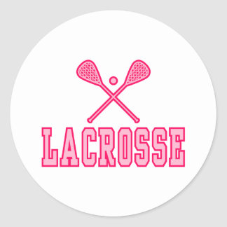 Lacrosse Pink Classic Round Sticker