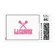 Lacrosse Pink Postage Stamp