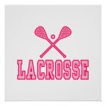 Lacrosse Pink Posters