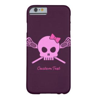 Lacrosse Pink Skull Custom iPhone 6 case