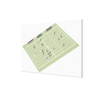 Lacrosse pitch and positions canvas print