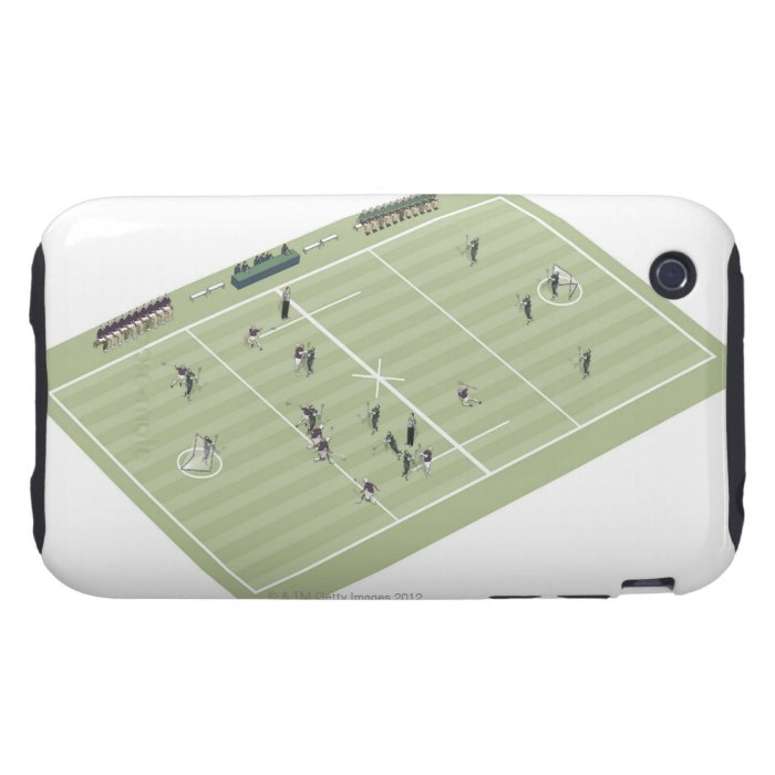 Lacrosse pitch and positions iPhone 3 tough case