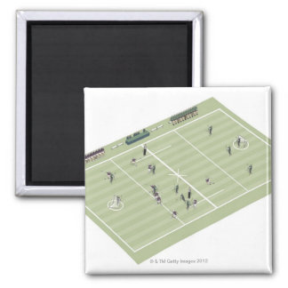 Lacrosse pitch and positions magnet