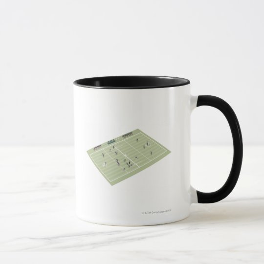 Lacrosse pitch and positions mug