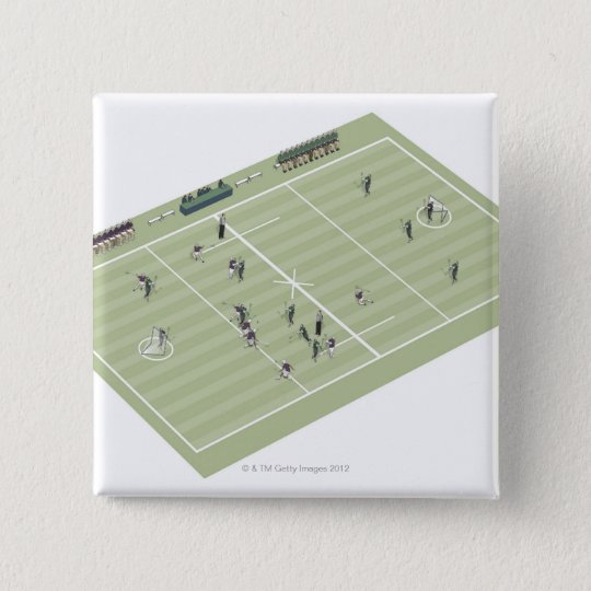 Lacrosse pitch and positions pinback button