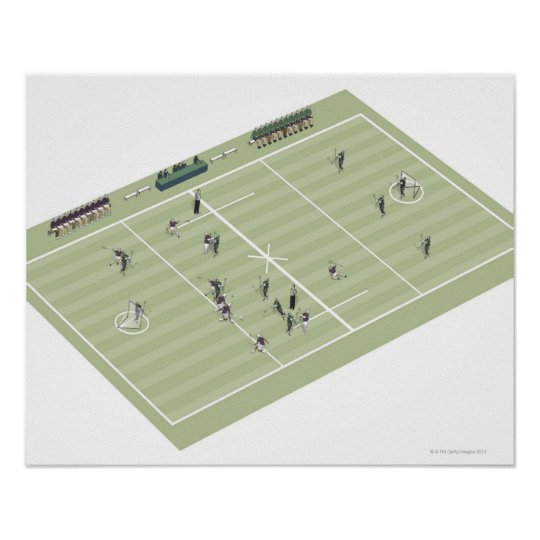 Lacrosse pitch and positions poster