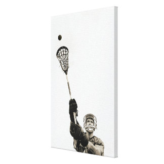 Lacrosse Player 2 Stretched Canvas Print