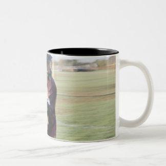 Lacrosse Player 2 Two-Tone Coffee Mug