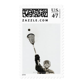Lacrosse Player 3 Postage