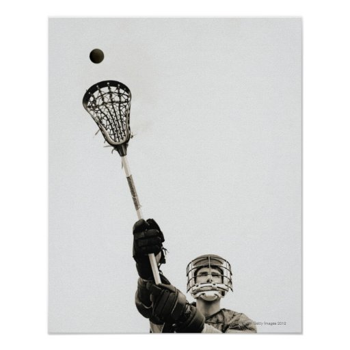 Lacrosse Player 3 Poster