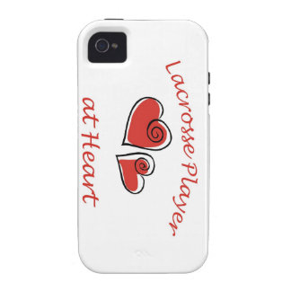 Lacrosse Player at Heart Vibe iPhone 4 Cases