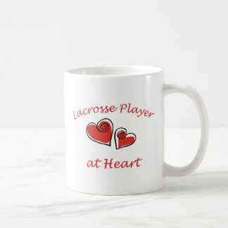 Lacrosse Player at Heart Coffee Mug