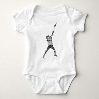 Lacrosse Player Baby Bodysuit