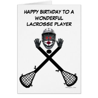 Lacrosse Player Birthday Card