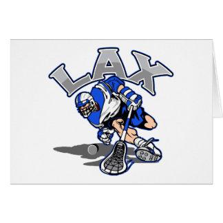 Lacrosse Player Blue Uniform Card