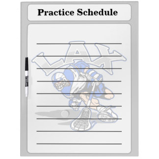 Lacrosse Player Blue Uniform Dry-Erase Board
