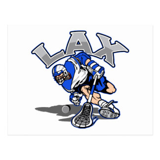 Lacrosse Player Blue Uniform Postcard