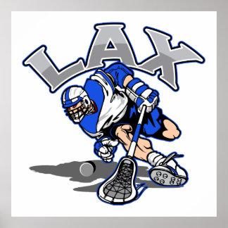 Lacrosse Player Blue Uniform Poster