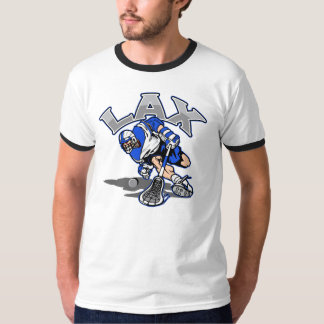Lacrosse Player Blue Uniform T-Shirt