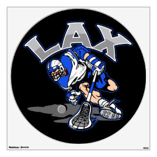 Lacrosse Player Blue Uniform Wall Decal