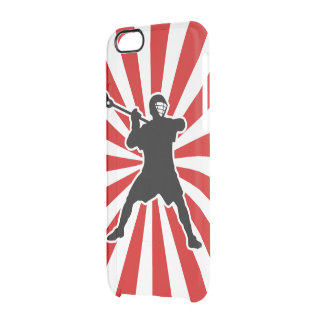 Lacrosse Player Clear iPhone Case