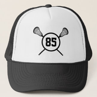 Lacrosse Player Custom Number Hat