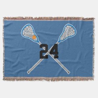 Lacrosse Player Custom Sports Blanket Gift