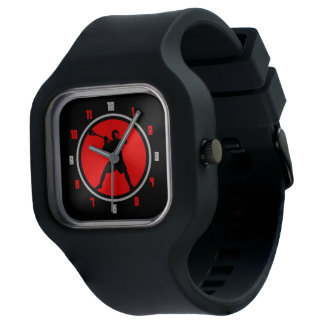 Lacrosse Player Design Red / Black Watch