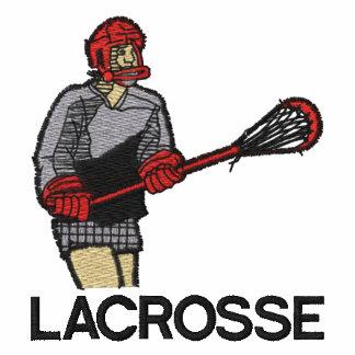 Lacrosse Player Embroidered on Sweatshirt Embroidered Hooded Sweatshirts