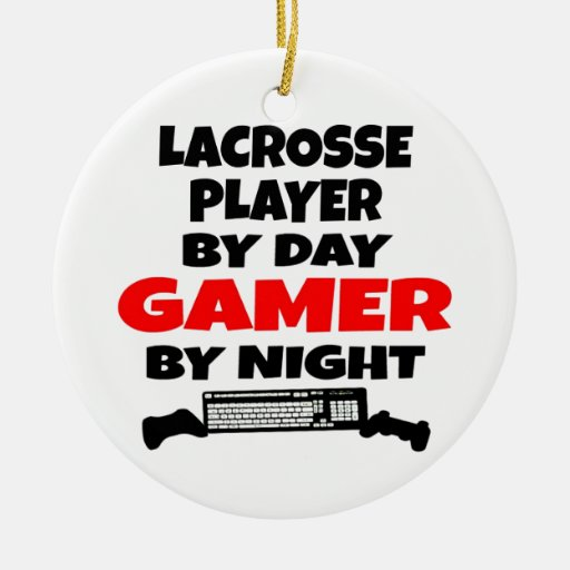 Lacrosse Player Gamer Ornaments