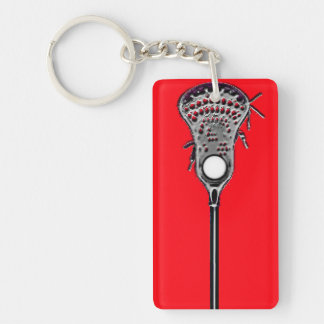 lacrosse player gift keychain