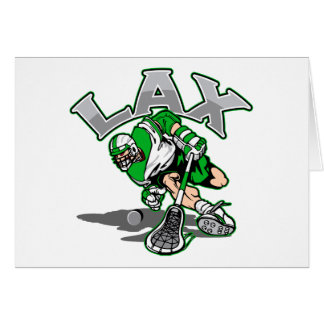 Lacrosse Player Green Uniform Card