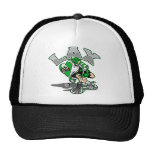 Lacrosse Player Green Uniform Hats