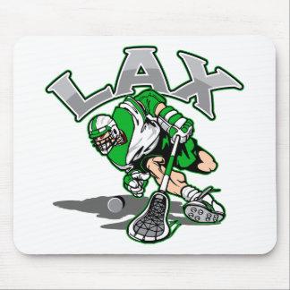 Lacrosse Player Green Uniform Mouse Pad