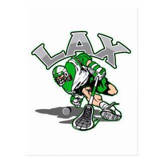 Lacrosse Player Green Uniform Postcard