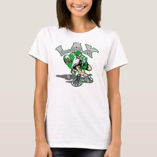 Lacrosse Player Green Uniform T-Shirt