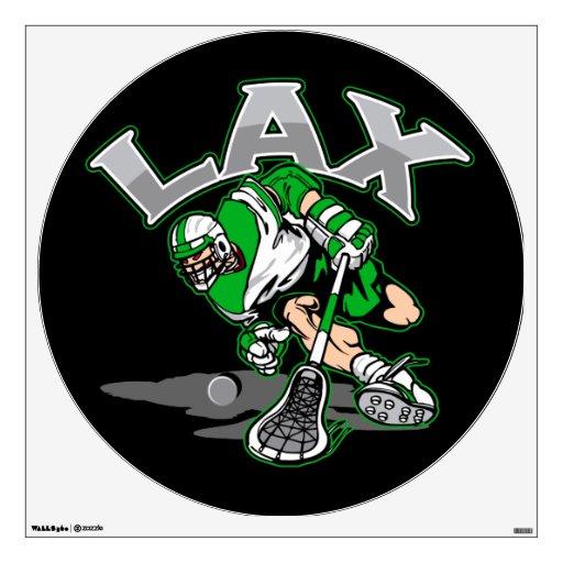 Lacrosse Player Green Uniform Wall Decor