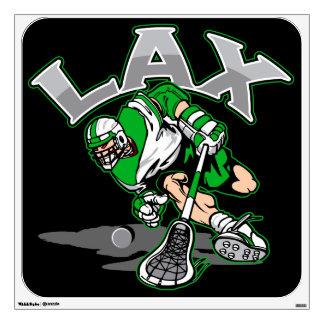 Lacrosse Player Green Uniform Wall Sticker