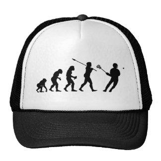 Lacrosse Player Trucker Hats